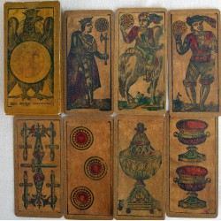 Silk cloth playing cards. France
