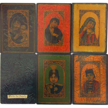 """As Nas"" set of cards. Persia. XIX century"