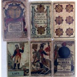 Constitution of Cadiz deck of cards.
