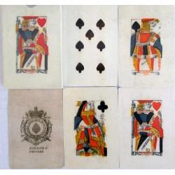 Deck of Piquet cards British Isles