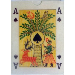 Set of cards with folkloric themes