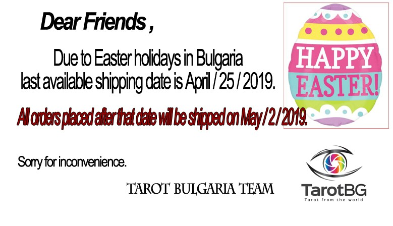 Due to Easter holidays shipping will delayed.