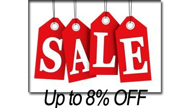 Sale up to 8% off
